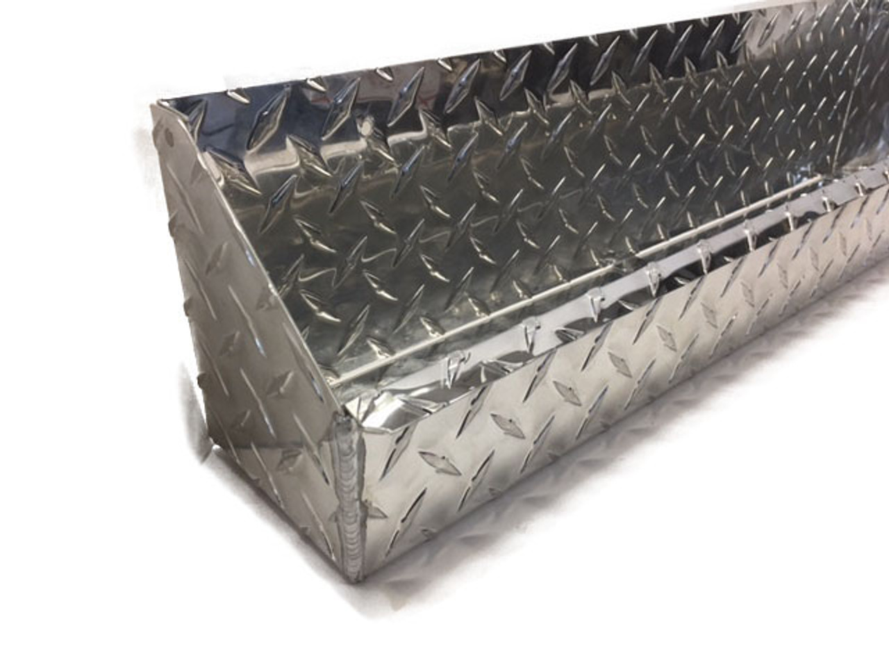 "Diamond Plate Oil and Aerosol Tray 24"" x 4.5"" x 6"" Diamond Plate Accent"