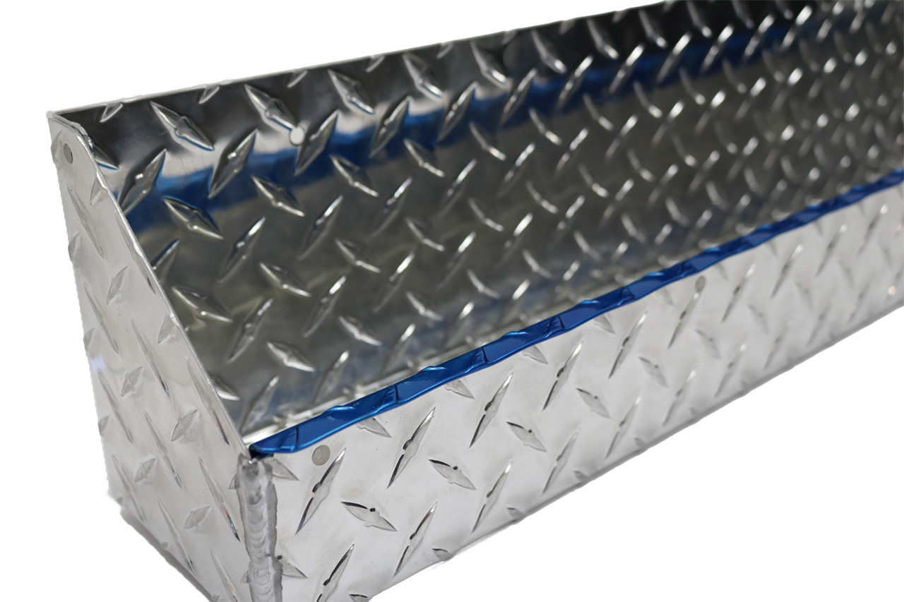 "Diamond Plate Oil and Aerosol Tray 24"" x 4.5"" x 6"" Blue Accent"