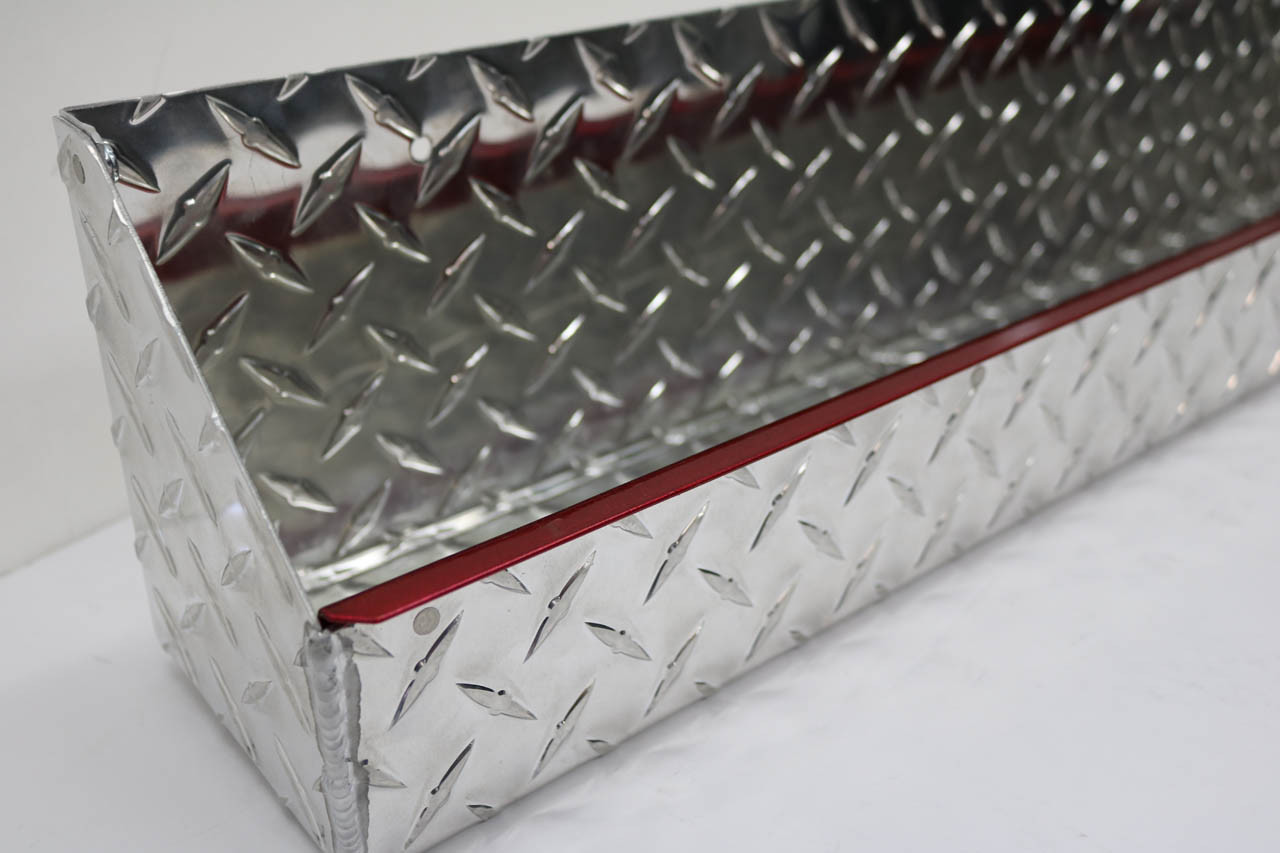 "Diamond Plate Oil and Aerosol Tray 24"" x 4.5"" x 6"" Red Accent"