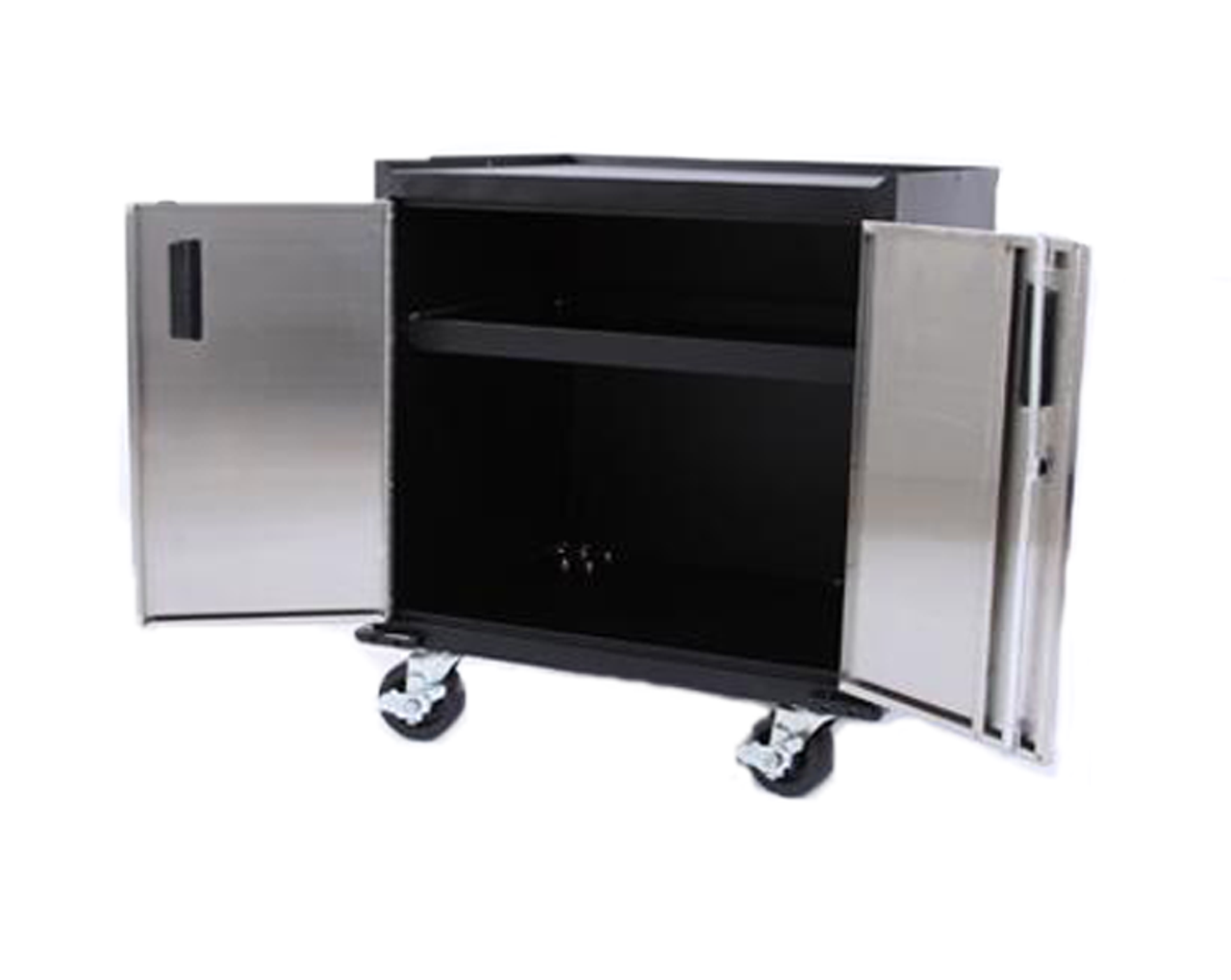 Mobile Base Cabinet, Stainless Steel two door