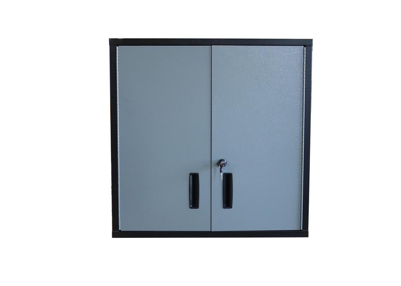 30 Inch Wall Shelf, Gray Door