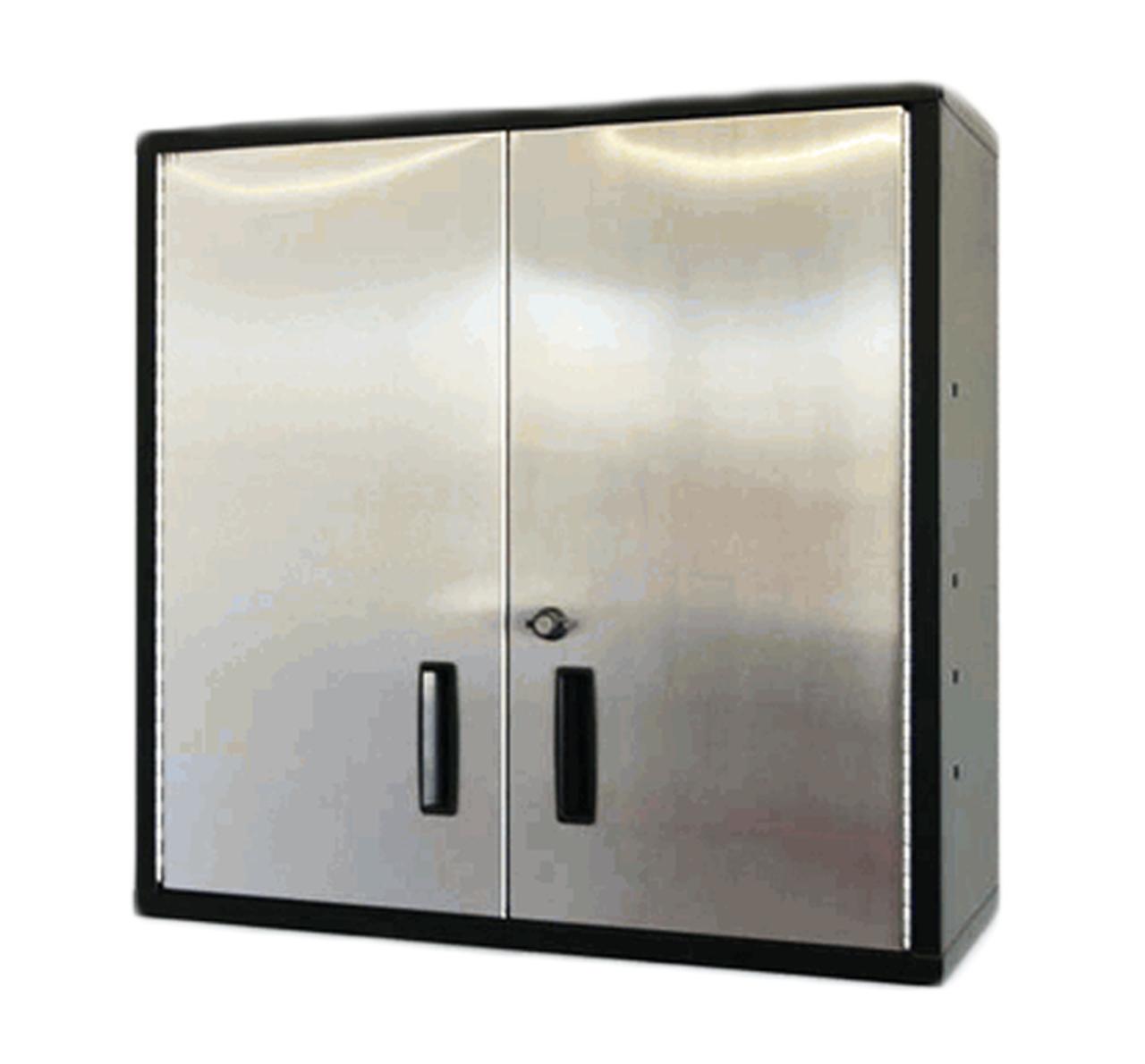 30 Inch Wall Shelf, Stainless Steel Door