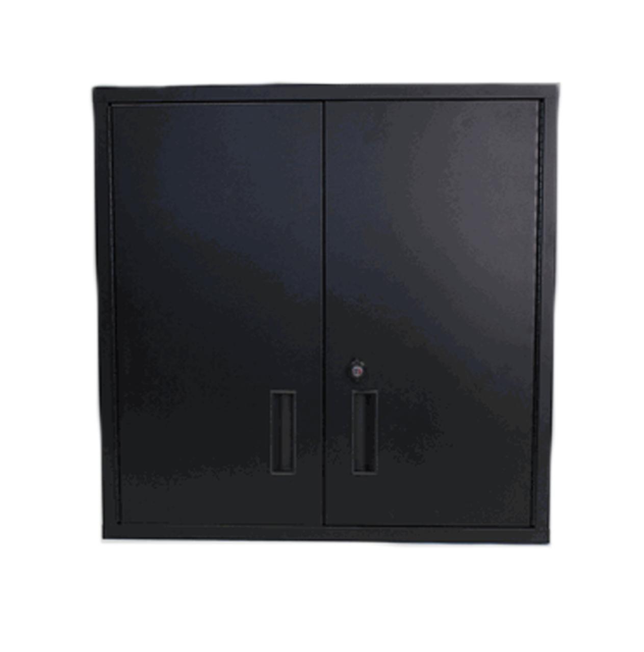 30 Inch Wall Shelf, Black Door