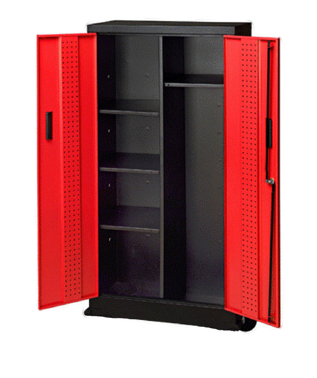 Sports Locker Red, inside view, without casters
