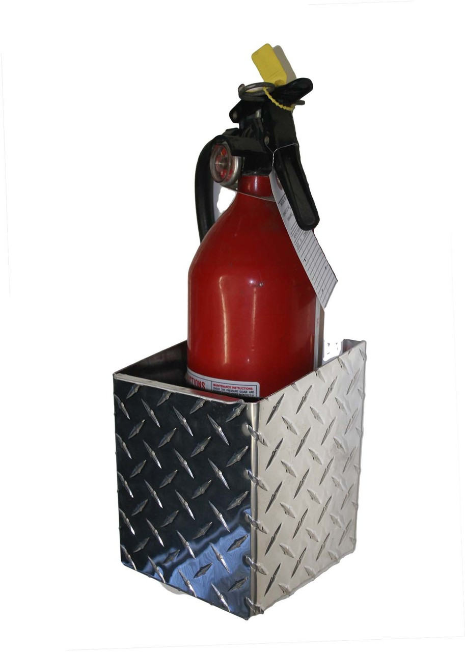 Diamond Plate Fire Extinguisher, 4""