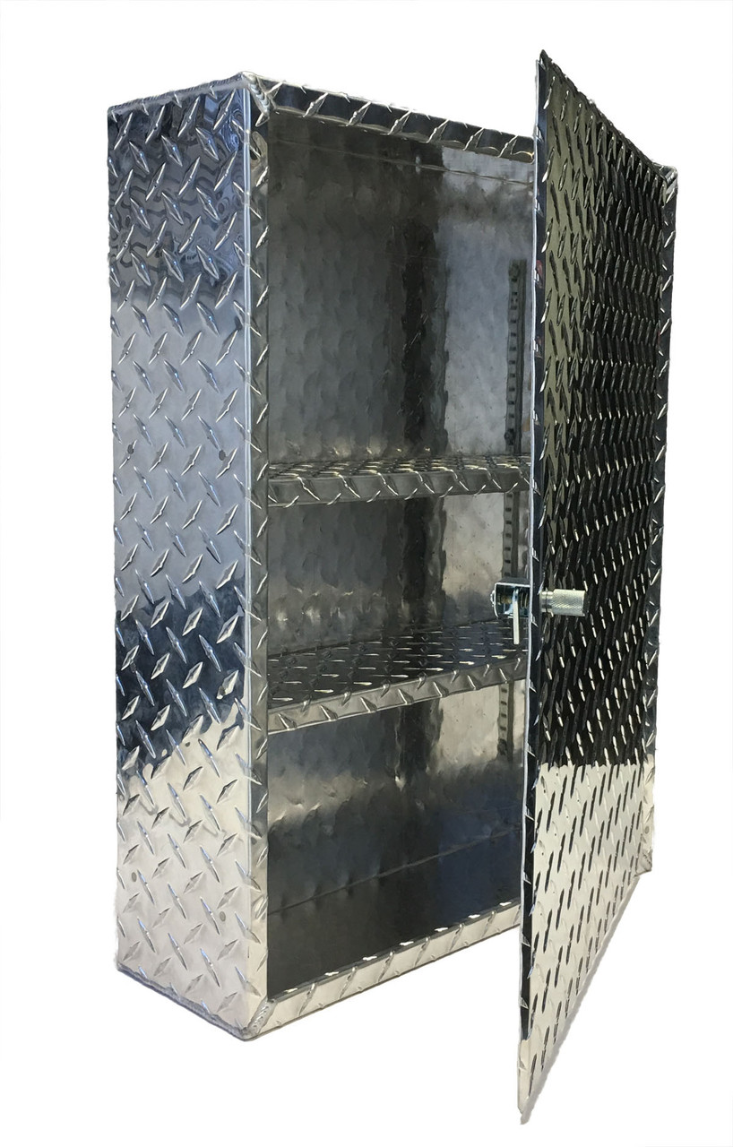 Diamond Plate Medicine Cabinet