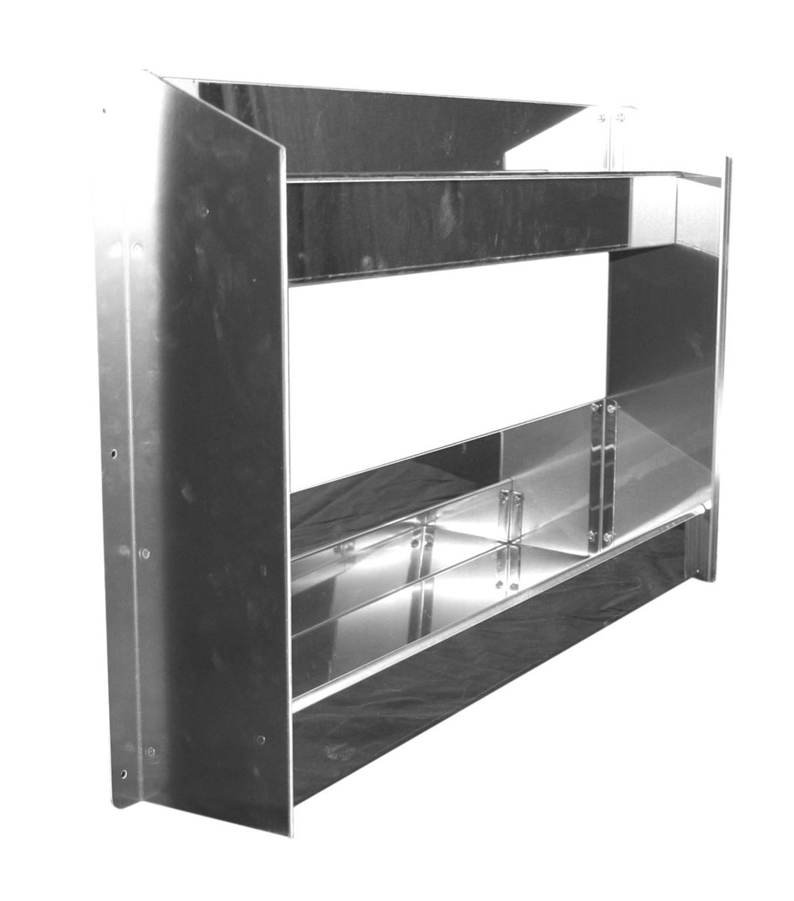 Two Tray Stainless Storage Rack by Man Cave Custom Cabinets