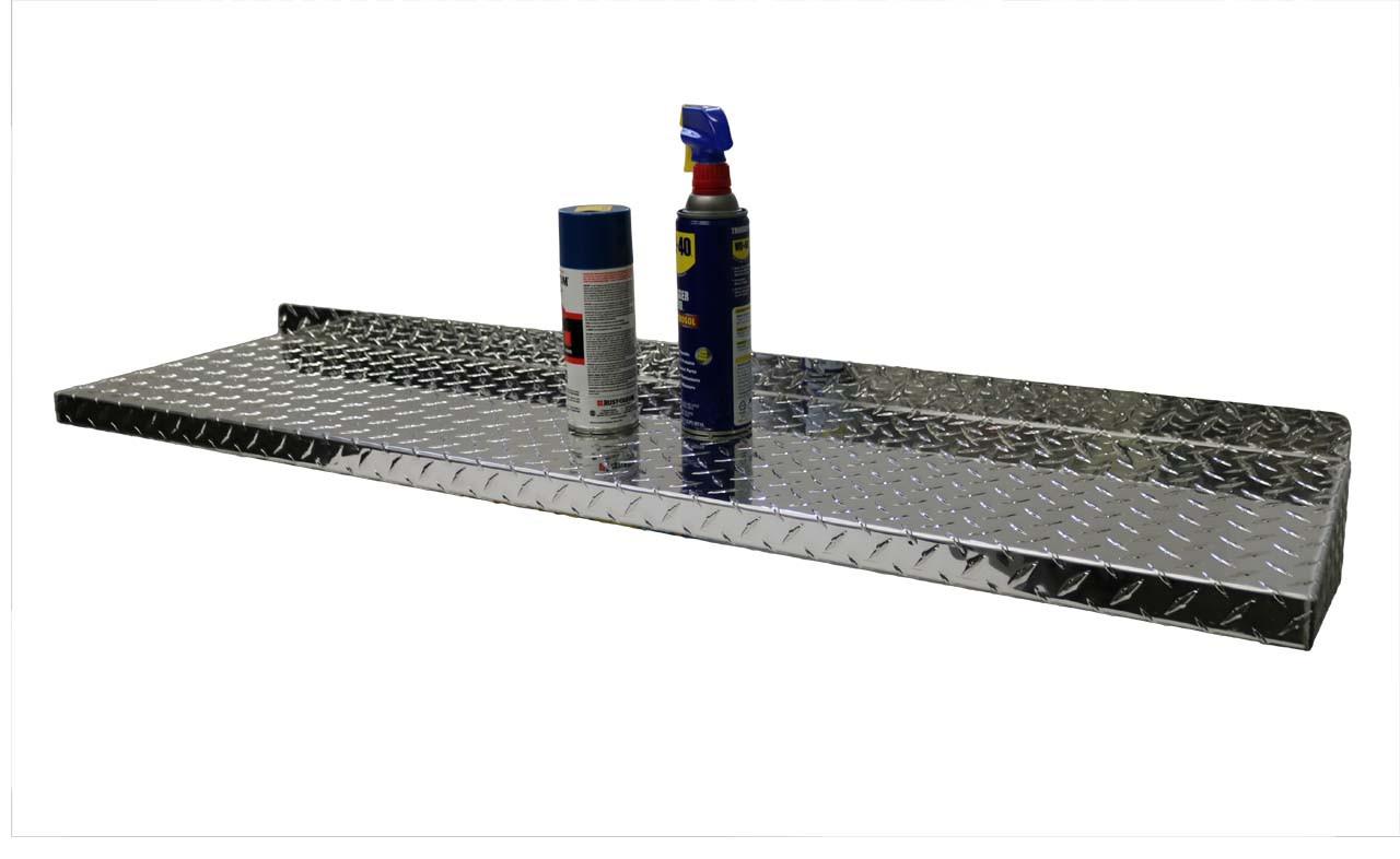 "48""  Diamond Plate Aluminum Shelf"