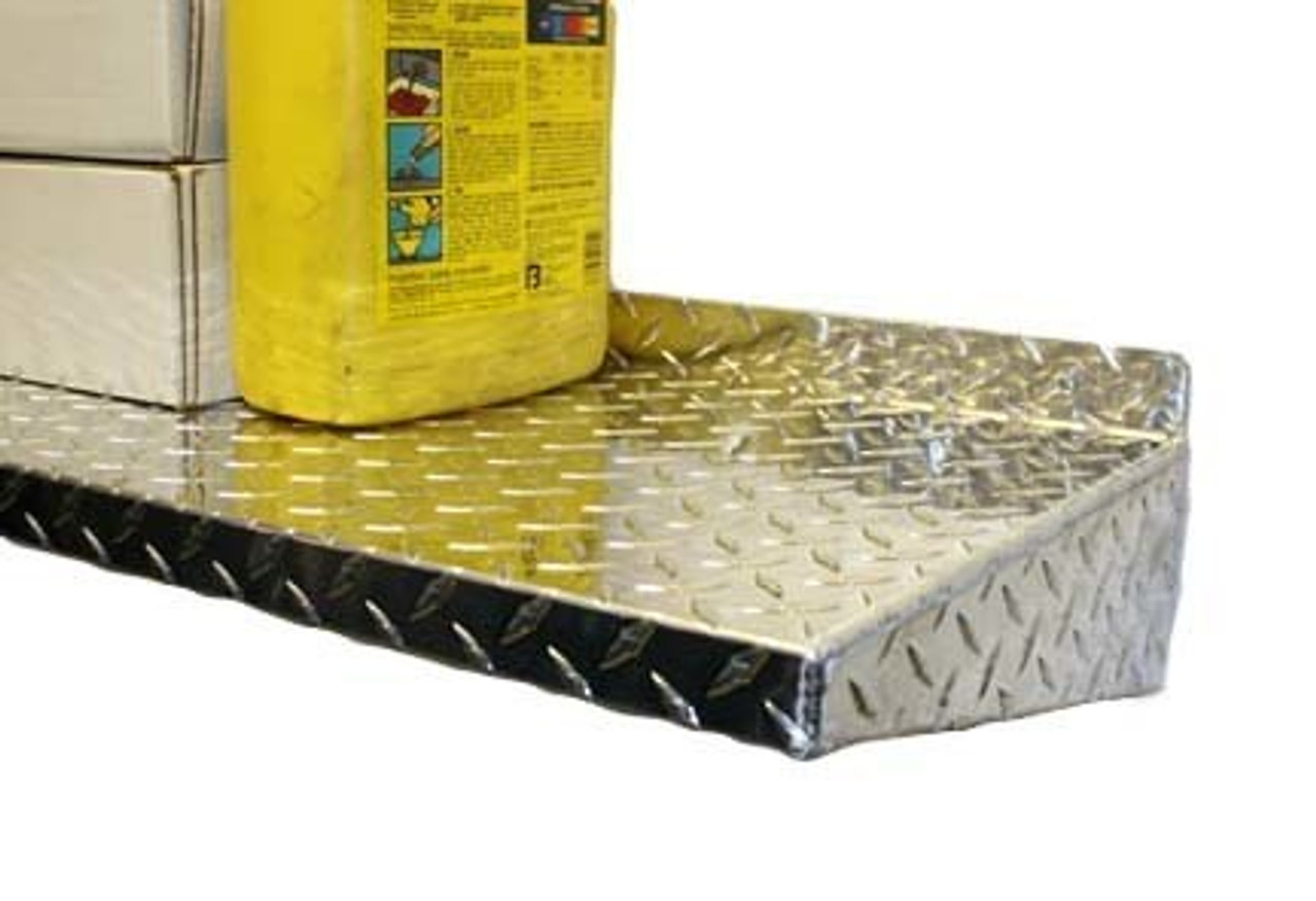 "48""  Diamond Plate Aluminum Shelf Detail"