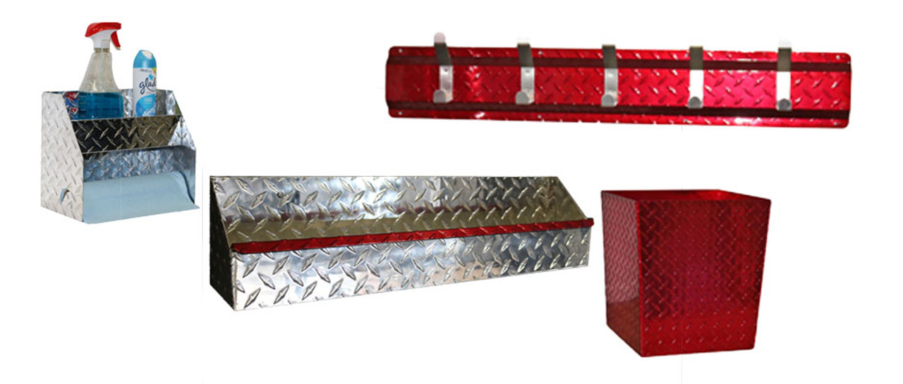 Diamond Plate Garage Red Combo Set