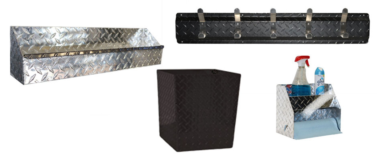 Diamond Plate Garage Black Combo Set