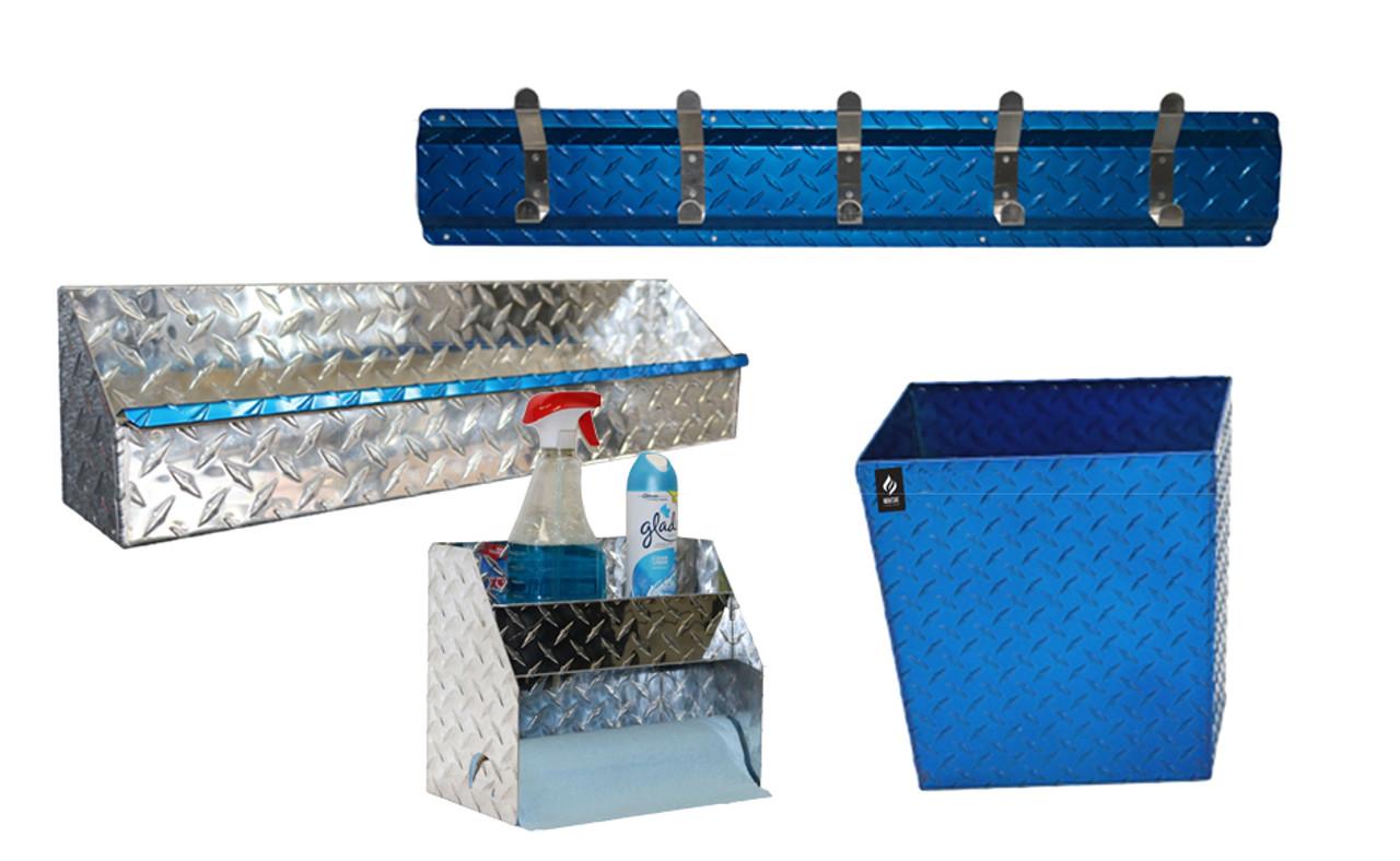 Diamond Plate Garage Blue Combo Set