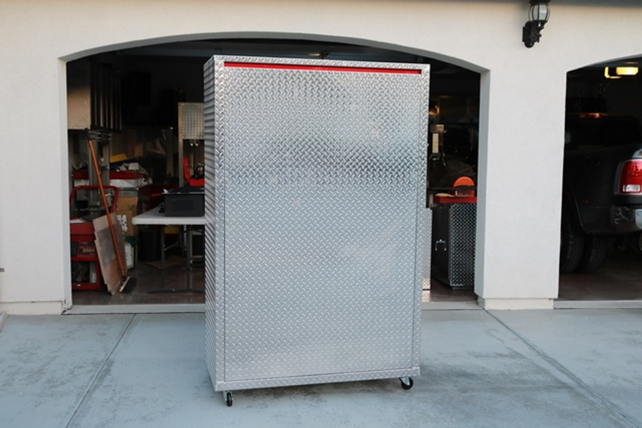 Diamond Plate Storage Locker Back (Large Daytona)
