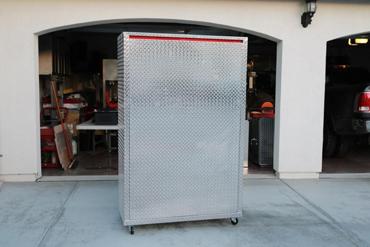 Diamond Plate Storage Locker Back (Large Daytona)