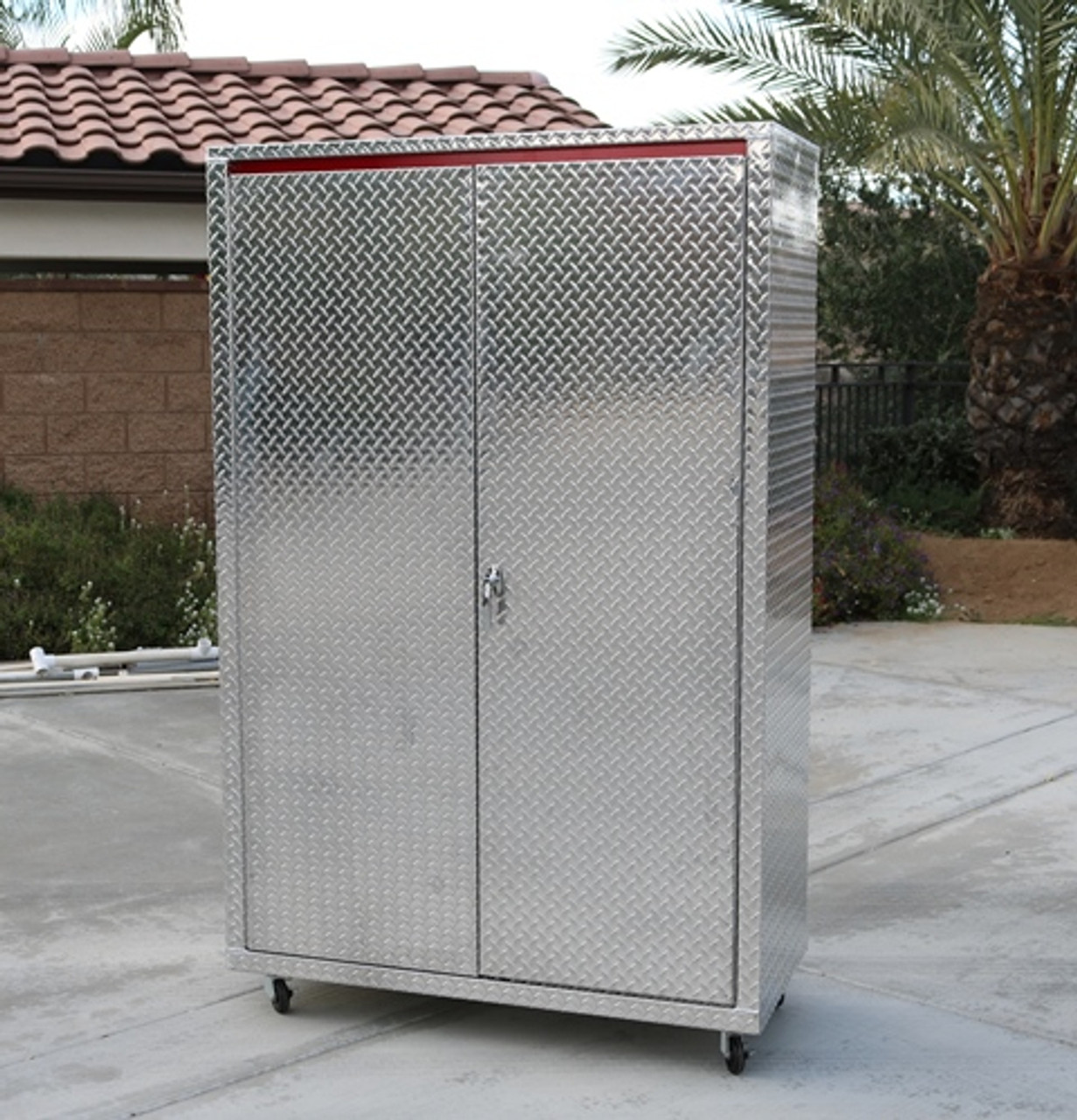 Diamond Plate Storage Locker Front (Large Daytona)