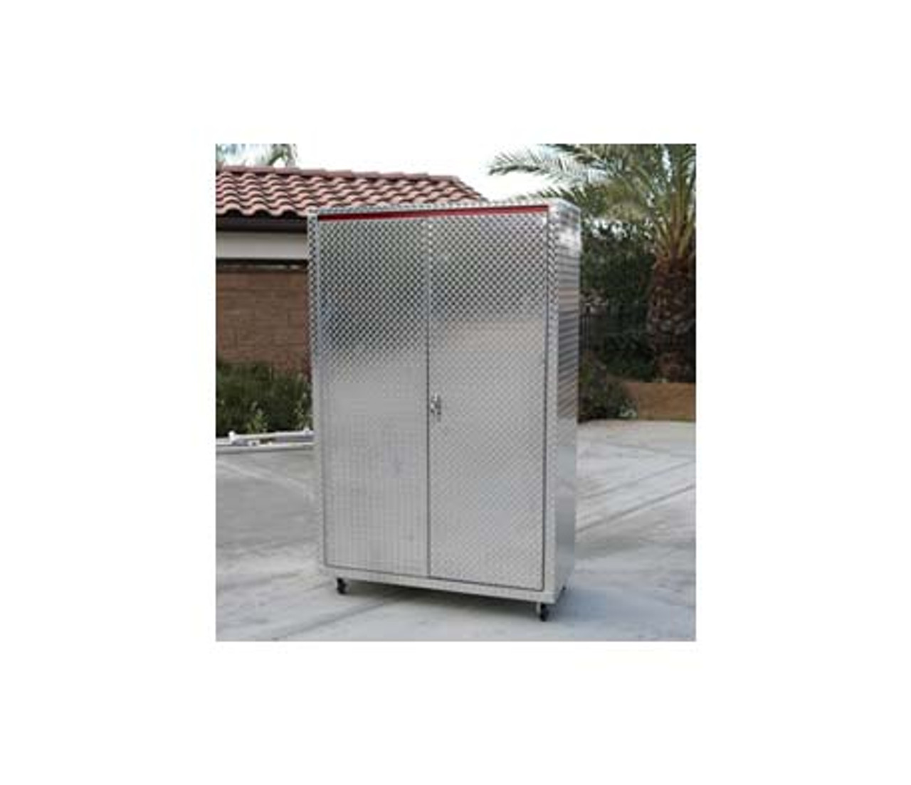 Man Cave Diamond Plate Storage Locker Front (Large Daytona)