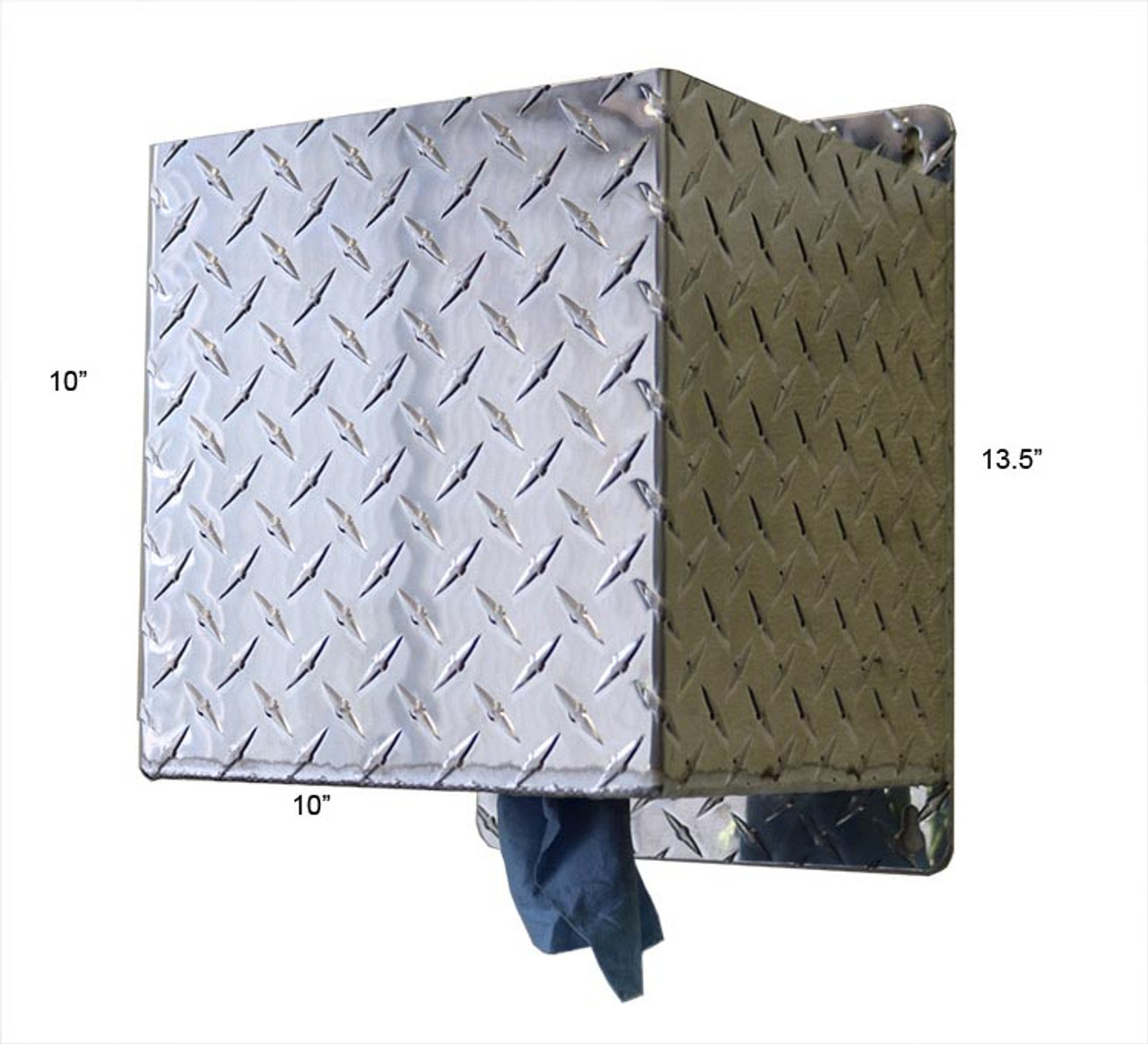 Shop Towel Box Holder, Diamond Plate