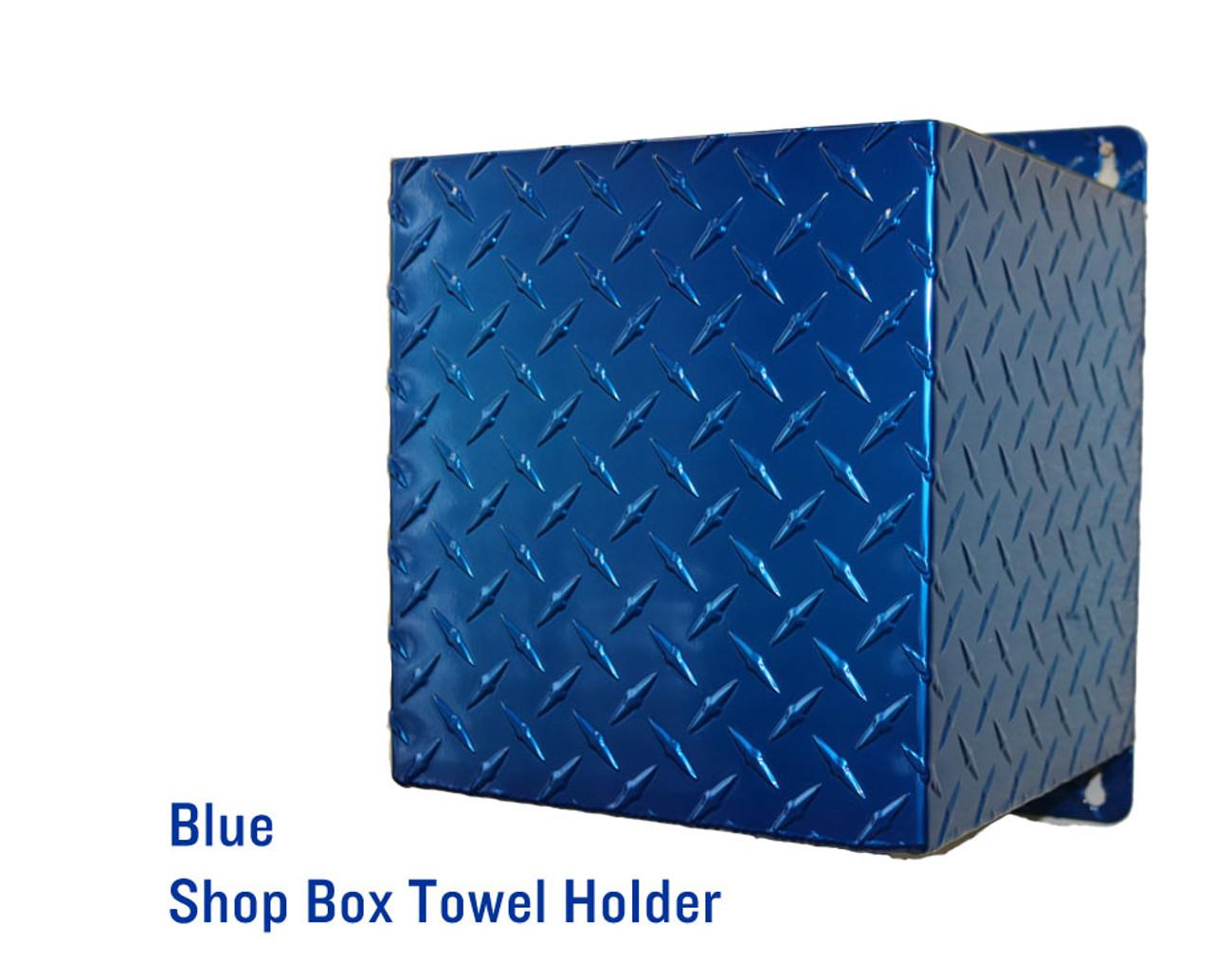 Shop Towel Box Holder, Blue