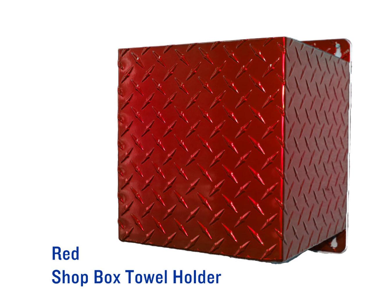 Shop Towel Box Holder, Black Chrome