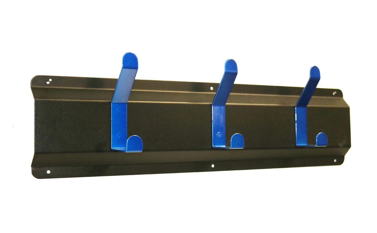 Coat Hanger, Powder Coated Steel, 3 Blue Hooks