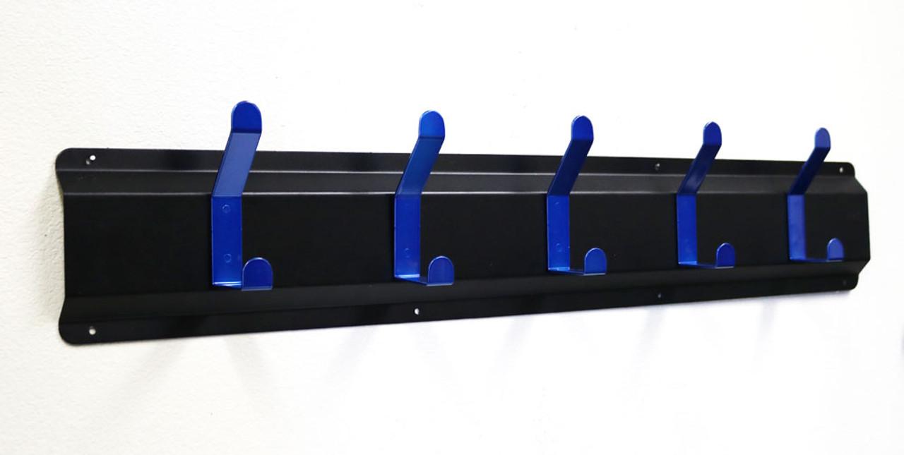 Coat Hanger, Powder Coated Steel, 5 Blue Hooks