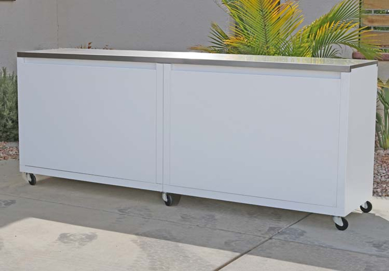 Seaside Collection 8ft Cabinet Back View