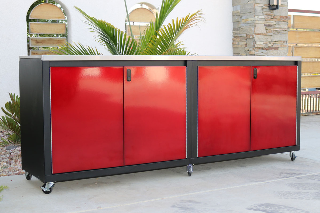 New Red and Black 8ft Cabinet
