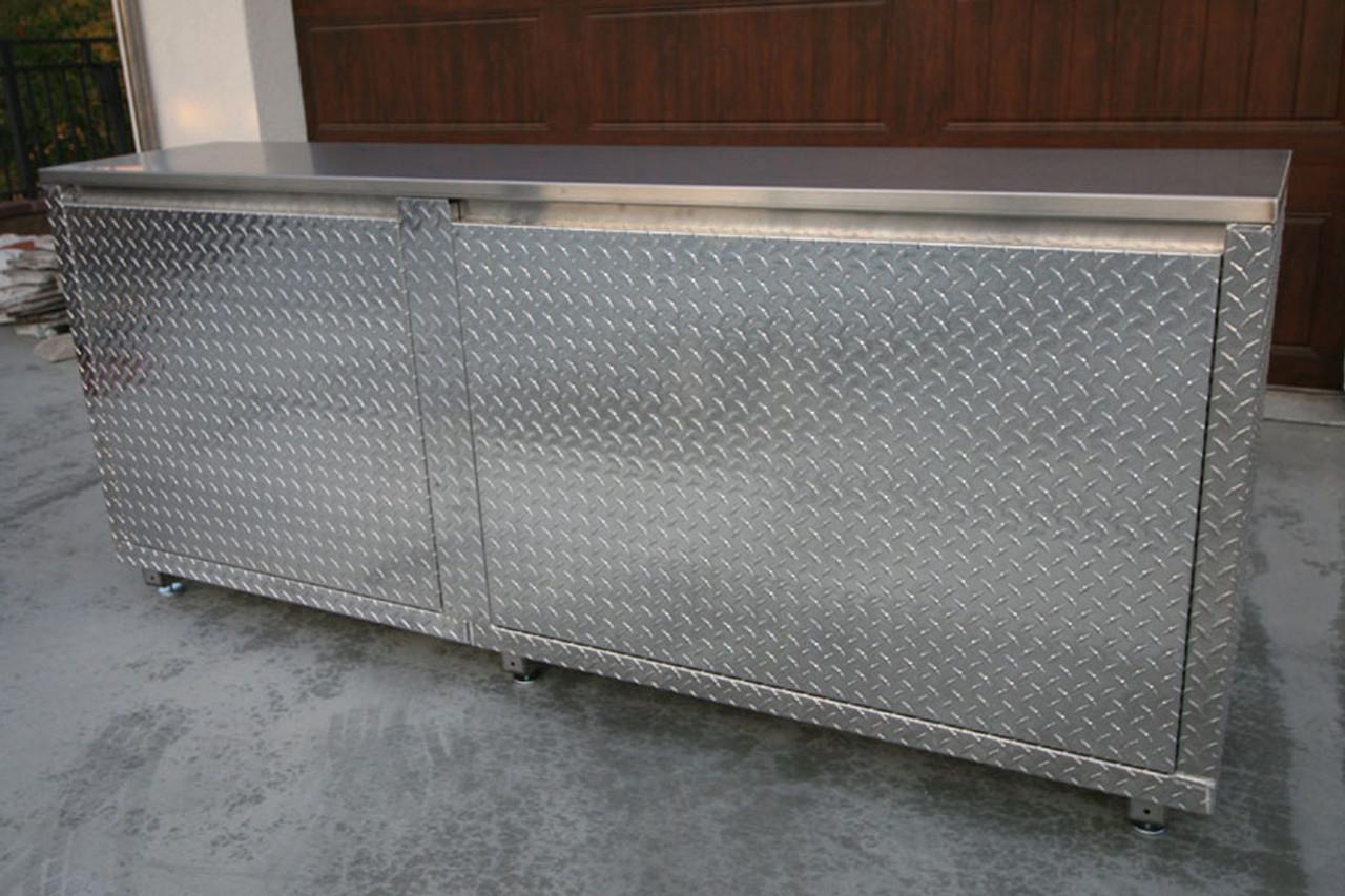 Diamond Plate Classic 7 foot Cabinet Back