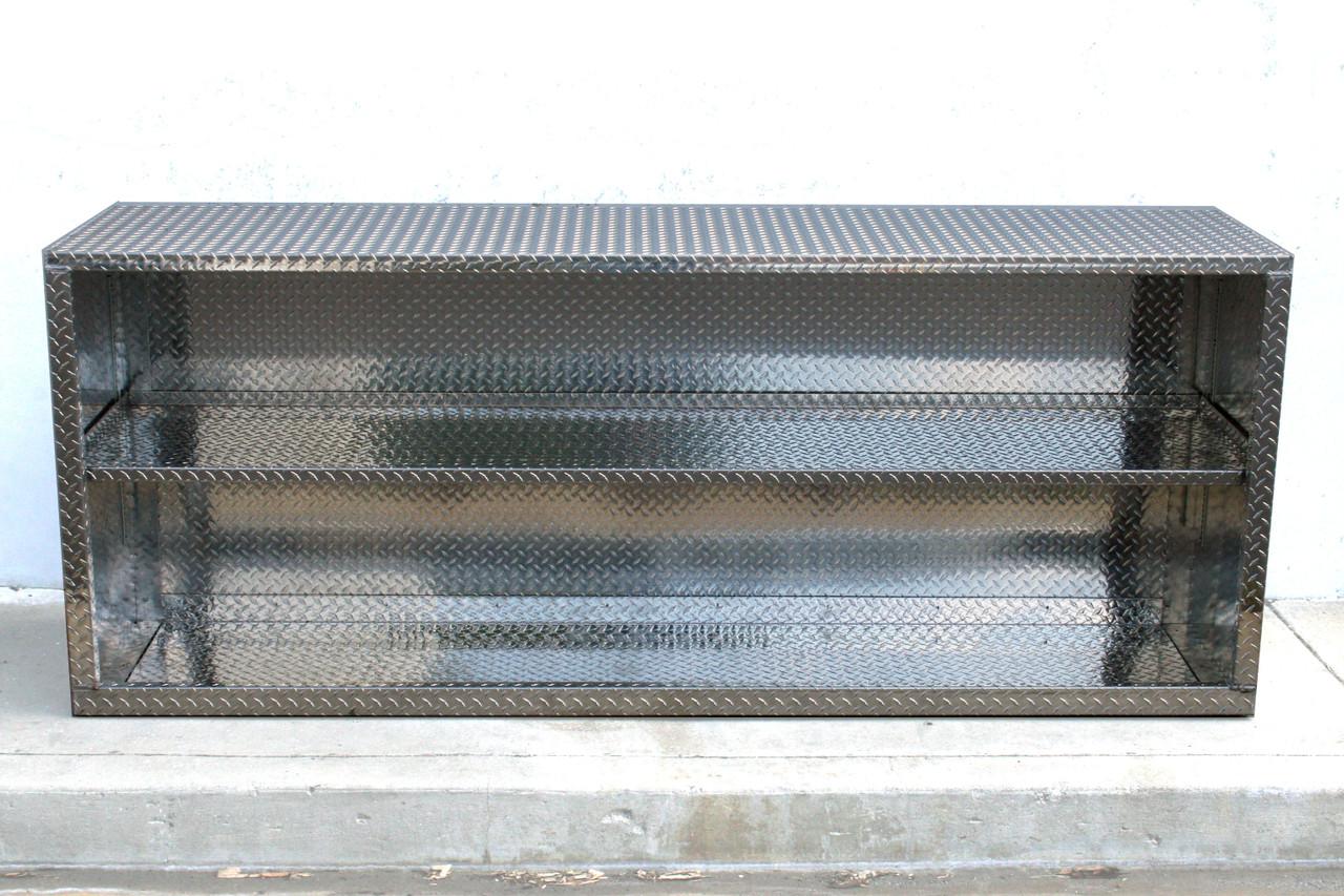 8' Diamond Plate Doorless Base or Overhead Cabinet