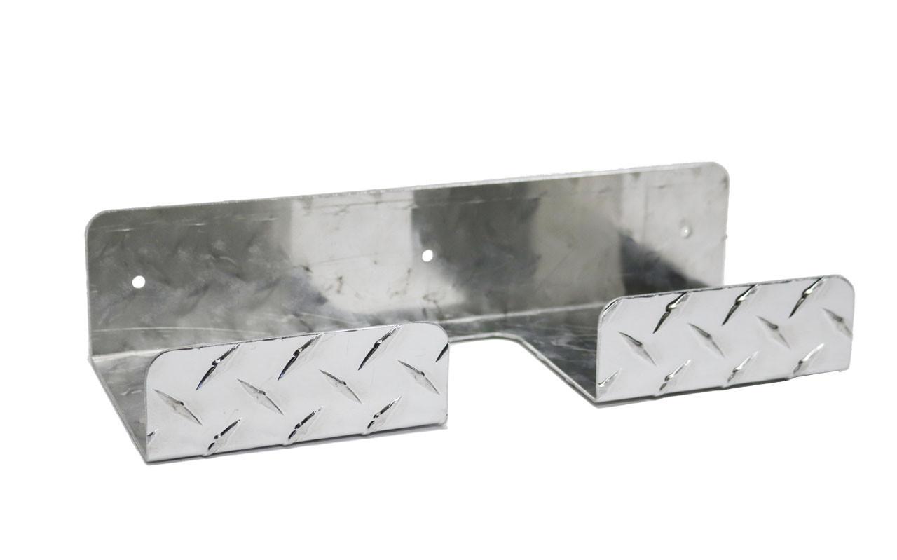 Diamond Plate Broom Holder Old Style
