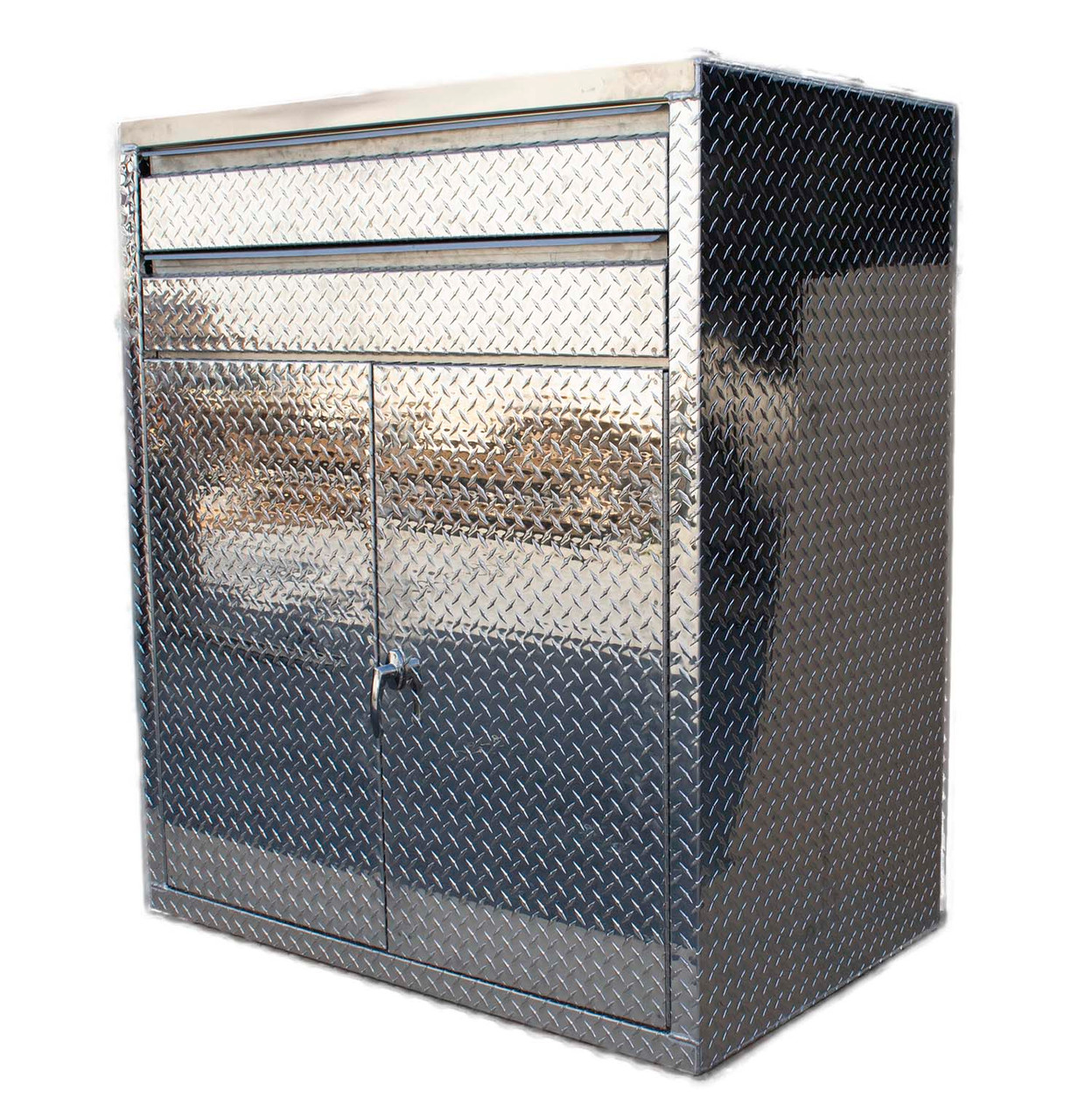 Diamond Plate High Boy Cabinet 56 in Tall