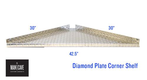 """Diamond Plate Corner Shelf 20"""""""