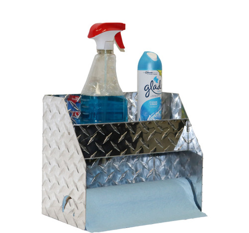 Diamond Plate Hand Cleaner Station - Paper Towel Rack