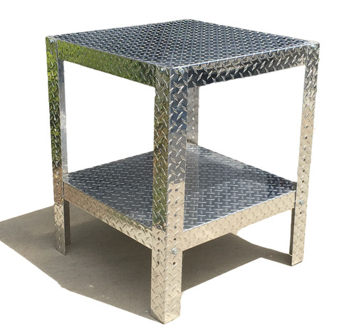 "Diamond Plate Work Table 24"" x 24"" x 30"""