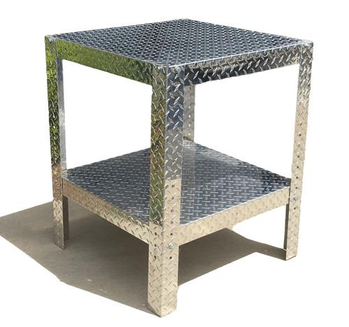 "Diamond Plate Work Table 24"" x 24"" x 30"""