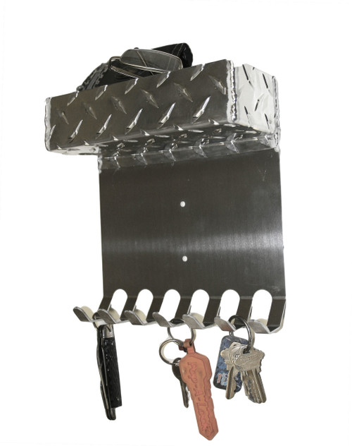 Diamond Plate Key Holder