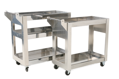 Stainless Shop Carts, Three Tier and Two Tier