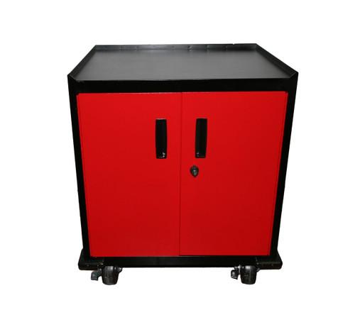 Two Door Mobile Base Cabinet, Red Door