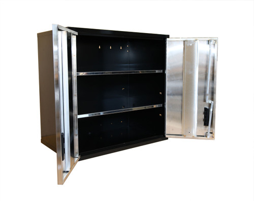 30 Inch Wall Shelf, Stainless Steel Door