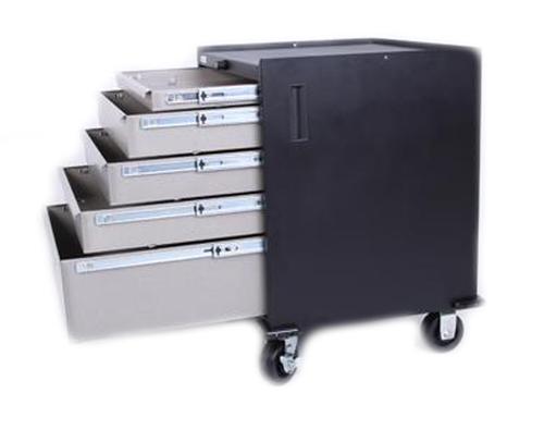 Five Drawer Modular Base Cabinet, Sandstone