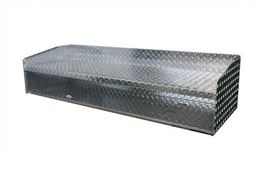 Diamond Plate Helmet Shelf with Hanger Slots