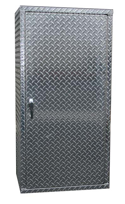 Diamond Plate Locker with Right Swing Door