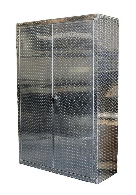 "72"" Tall x 48"" Wide 18"" Deep Diamond Plate Cabinet"