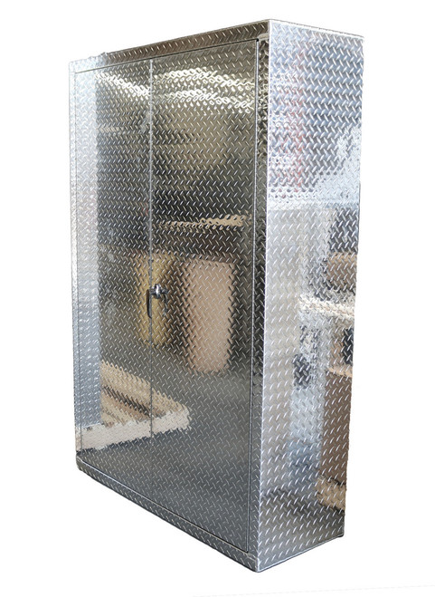"72"" Tall x 48"" Wide 18"" Deep Diamond Plate Cabinet"