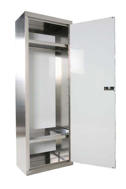 Stainless Steel Wall Locker, Door Open