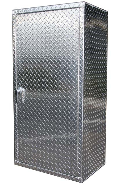 6' x 2' Diamond Plate Garage Locker
