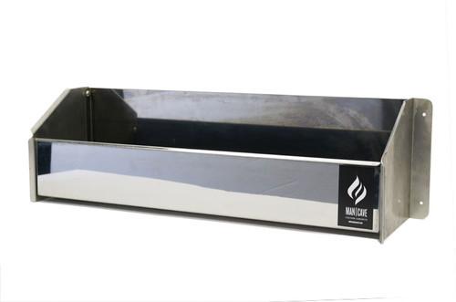 "Stainless Steel Quart Tray 24"" L x 6.75"" W x 7.5"" H"