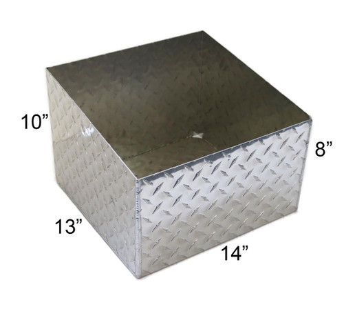 Diamond Plate Aluminum Propane Tank Holder