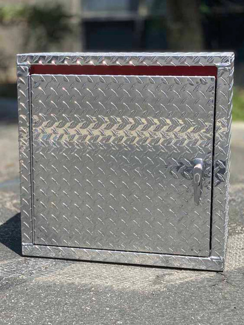 Mini Wall Diamond Plate Cabinet