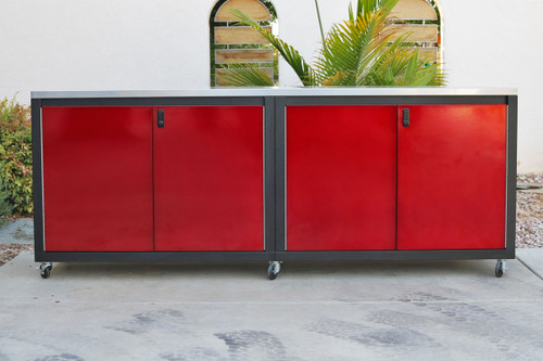 Red and Black 8ft Cabinet